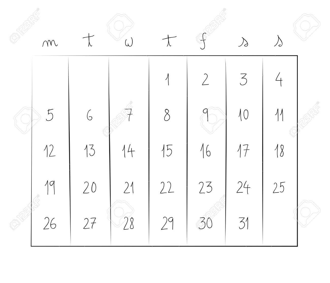 Weekly Calendar Illustration Stock Vector - 17808052