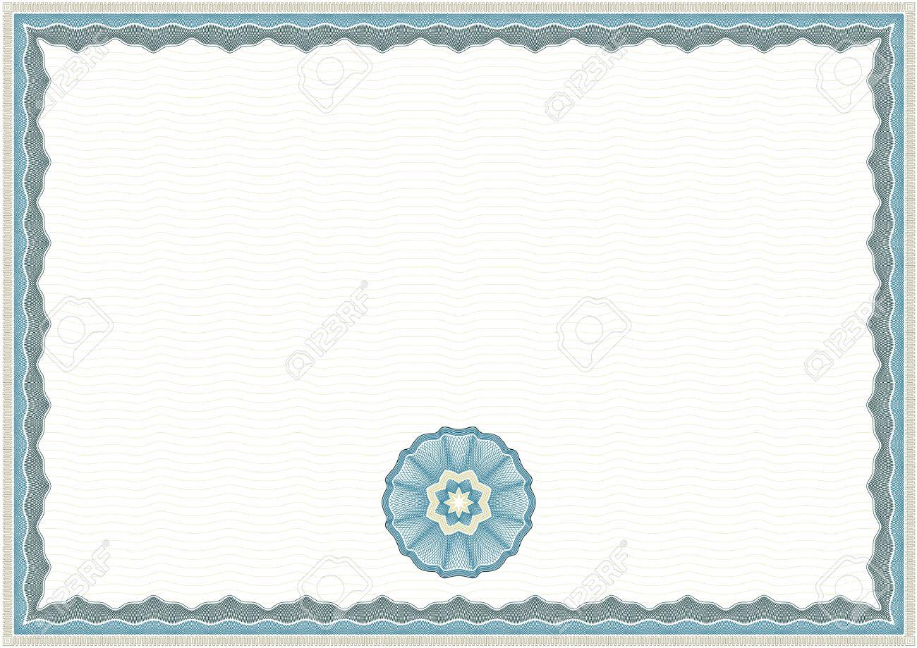 Guilloche Hintergrund Für Zertifikat Oder Diplom (Hintergrund ...