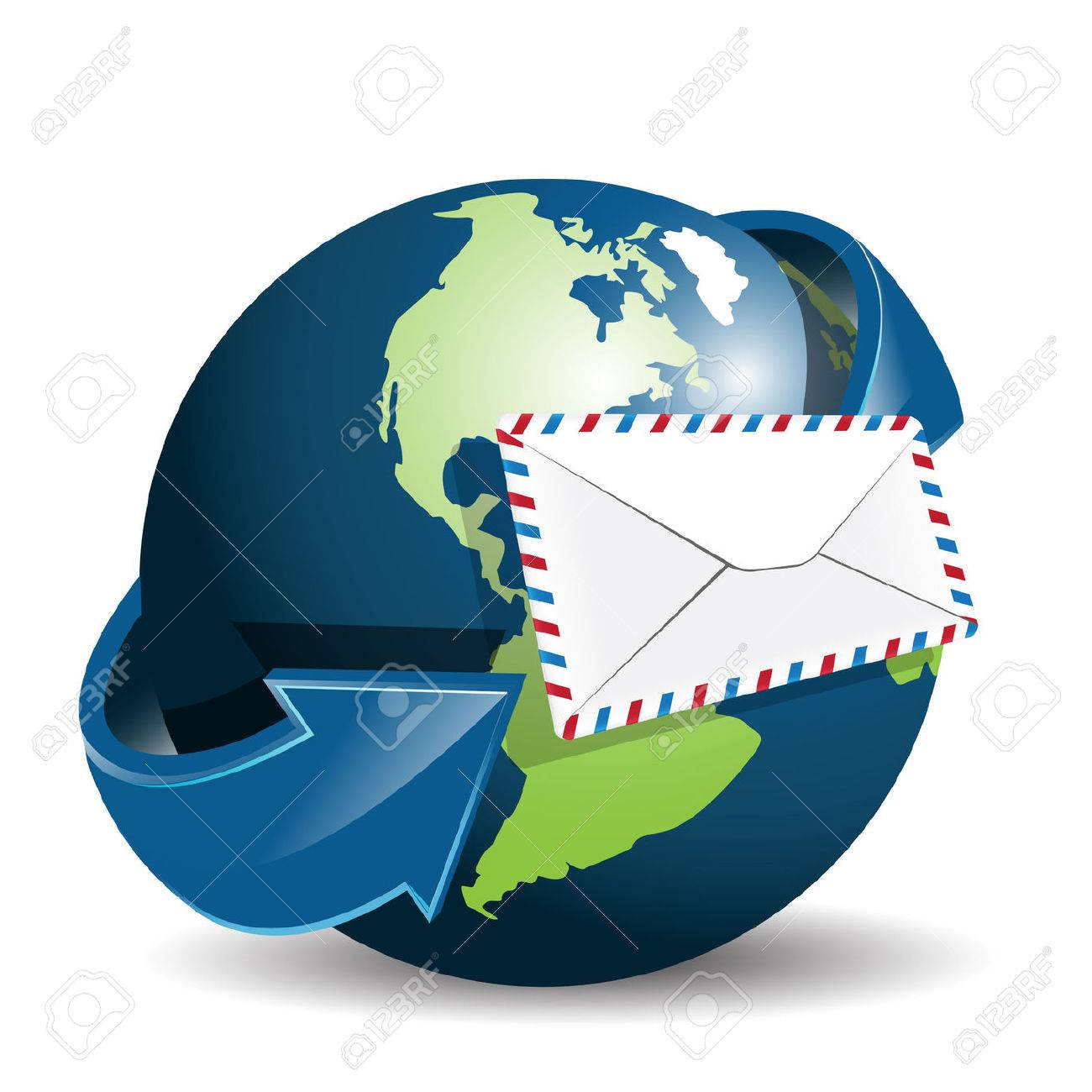 globe and envelope Stock Vector - 7707643