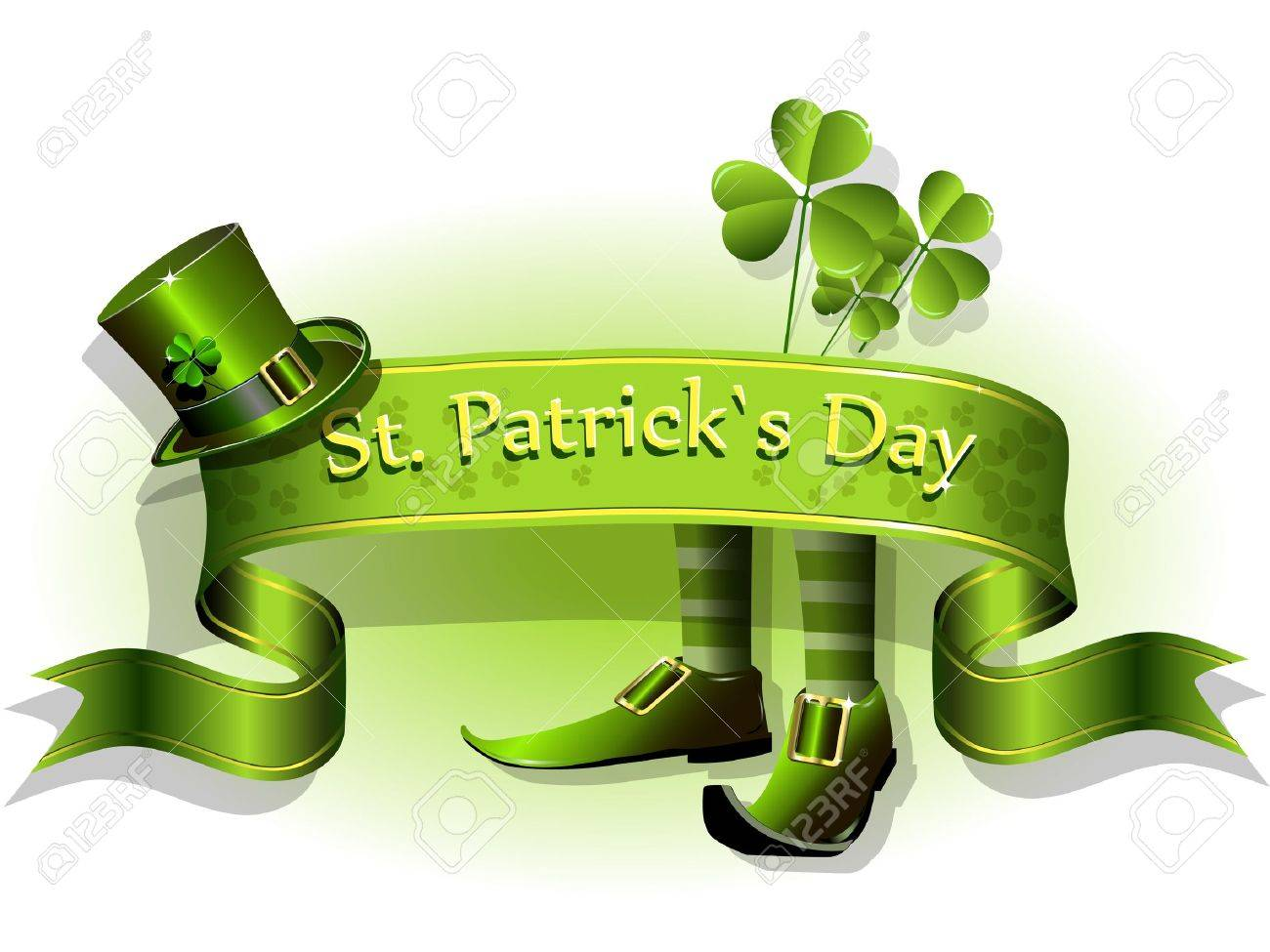 abstract illustration to the day of saint Patrick Stock Vector - 12164192