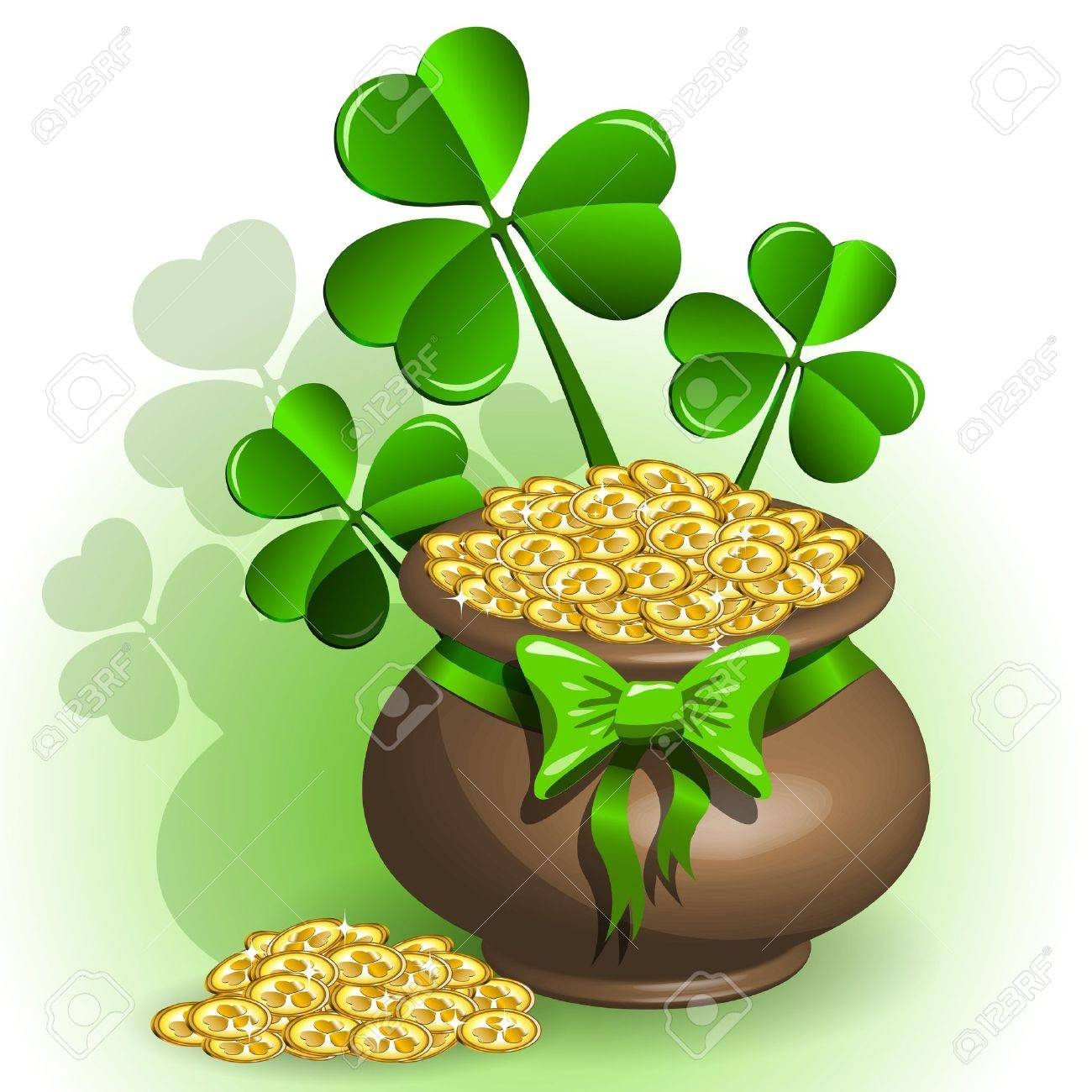 abstract illustration to the day of saint Patrick Stock Vector - 12164191