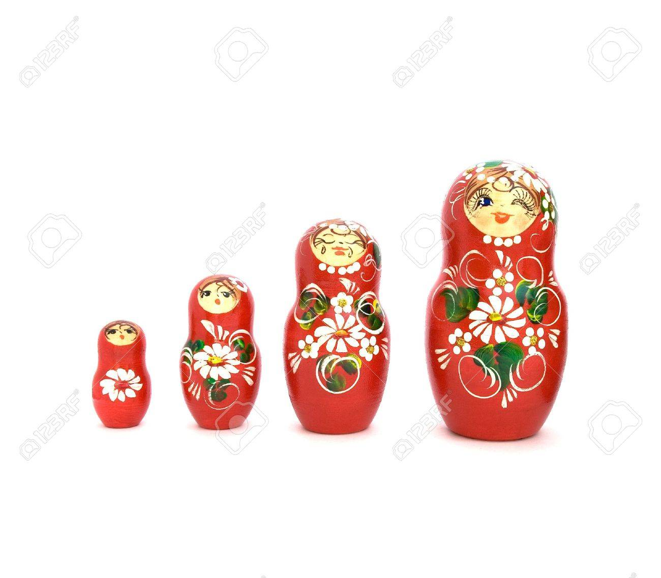 Set of four russian dolls of increasing sizes. Stock Photo - 6233084