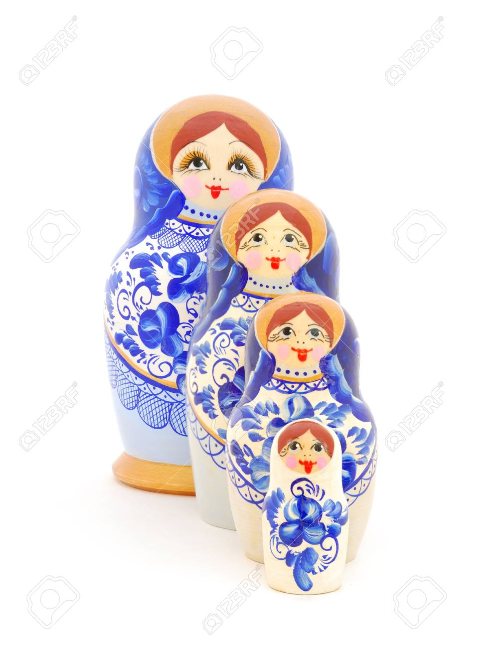 Russian nesting dolls on white background. Stock Photo - 7151032