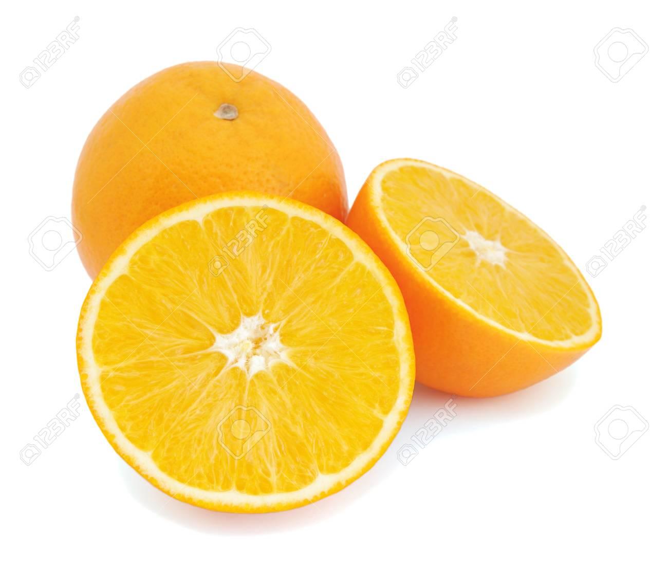 Oranges isolated on white background Stock Photo - 8617971
