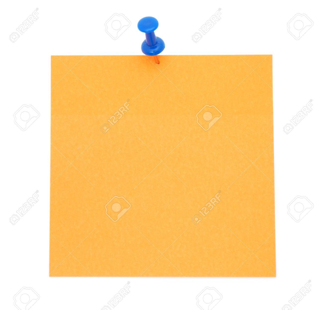 Blank Orange Post-It Note Stock Photo - 9324442