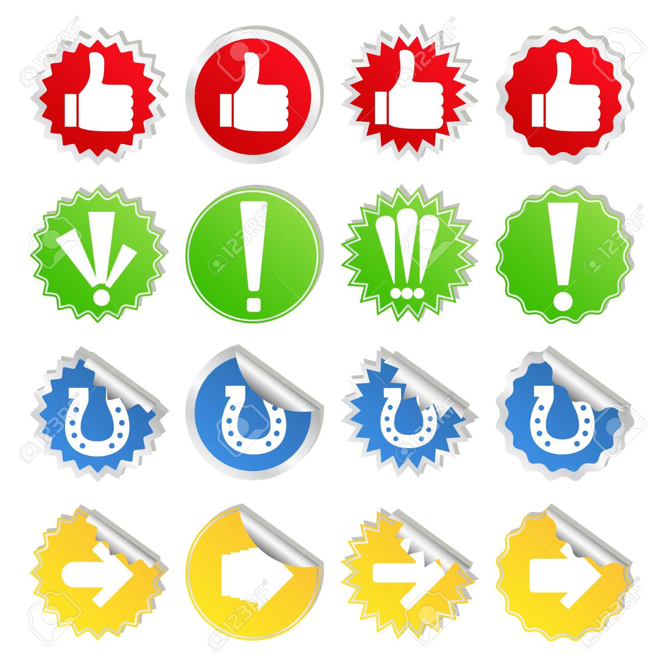 stickers with different signs Stock Vector - 10037027