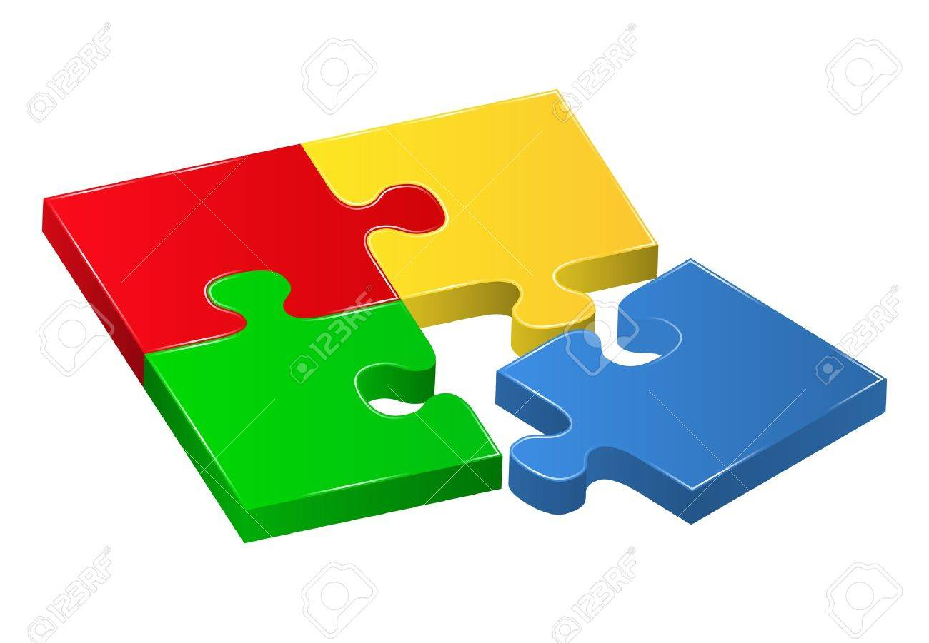 vector puzzle pieces royalty free cliparts vectors and stock