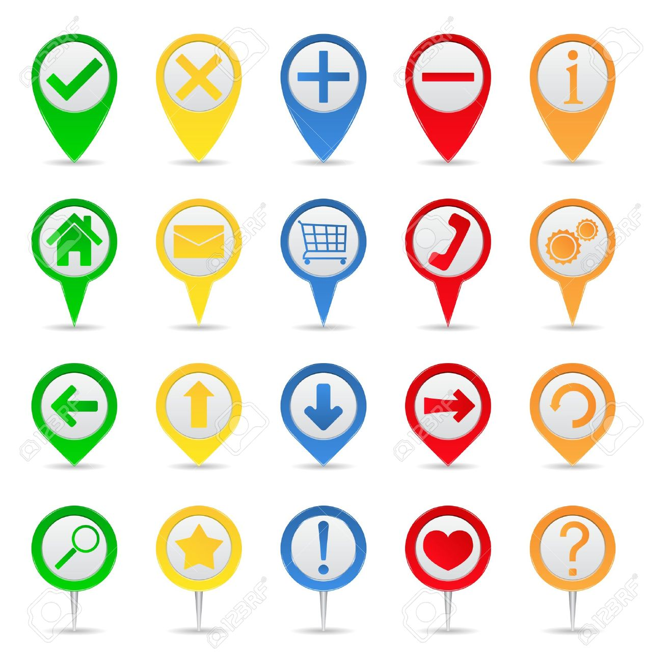 Map markers with icons - 10344401