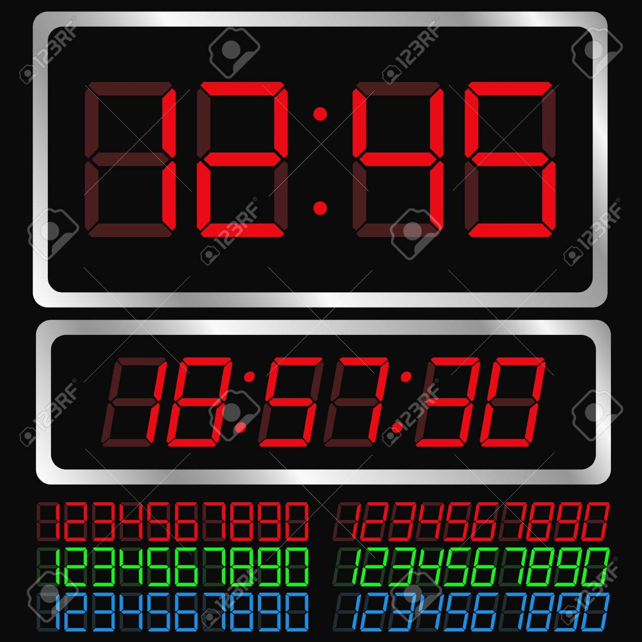 Vector Digital Clock Stock Vector - 10406227
