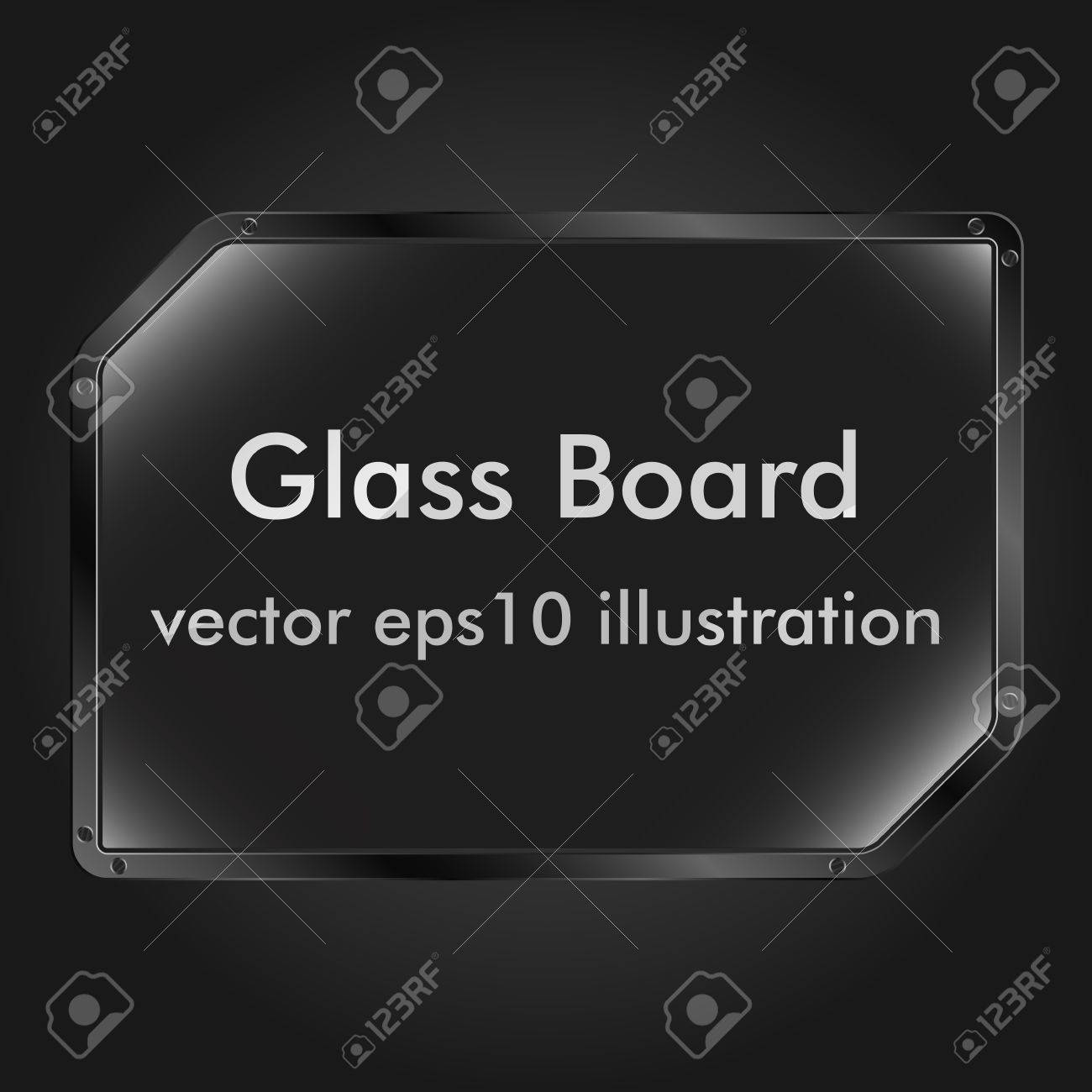 Vector glass message board Stock Vector - 10609616