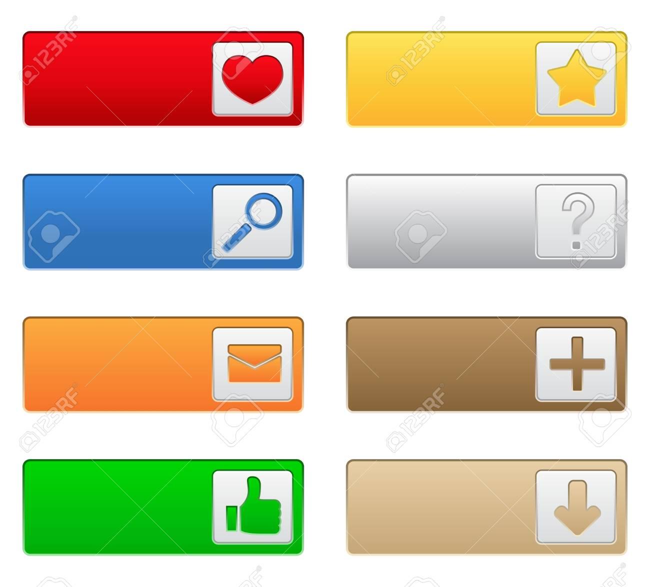 Web buttons Stock Vector - 10644012