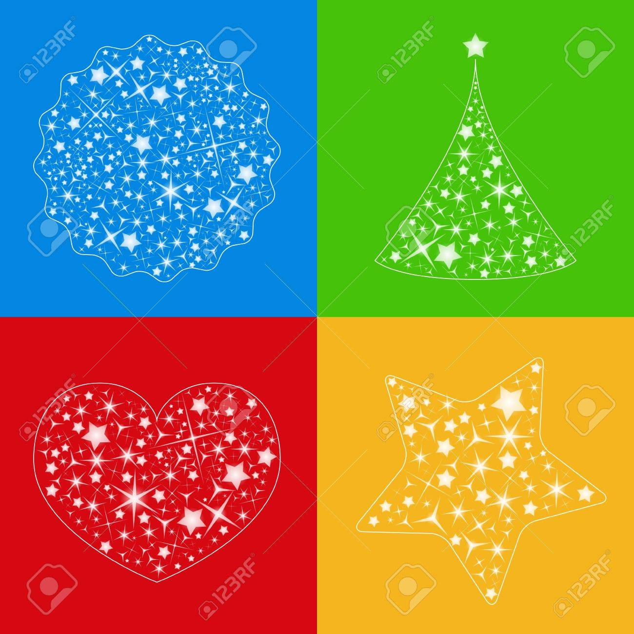 Abstract vector shapes made of transparent stars, choose any  background Stock Vector - 10963106