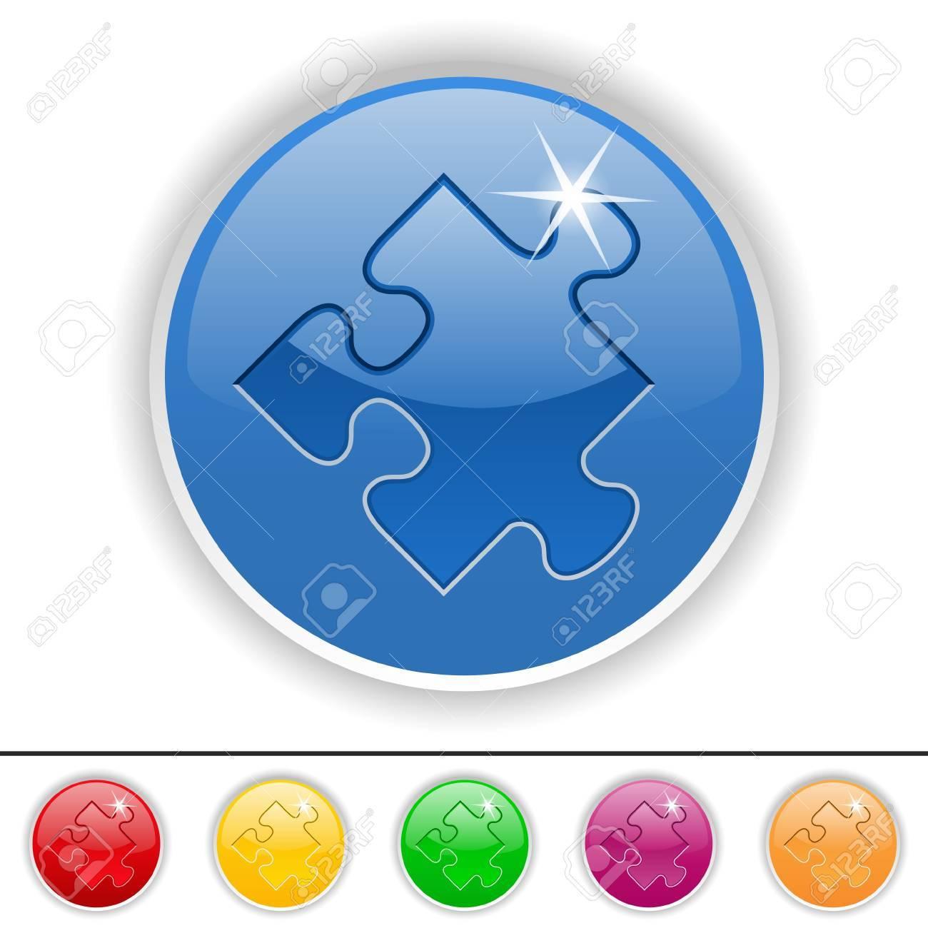 Puzzle piece icon, vector illustration Stock Vector - 11030280