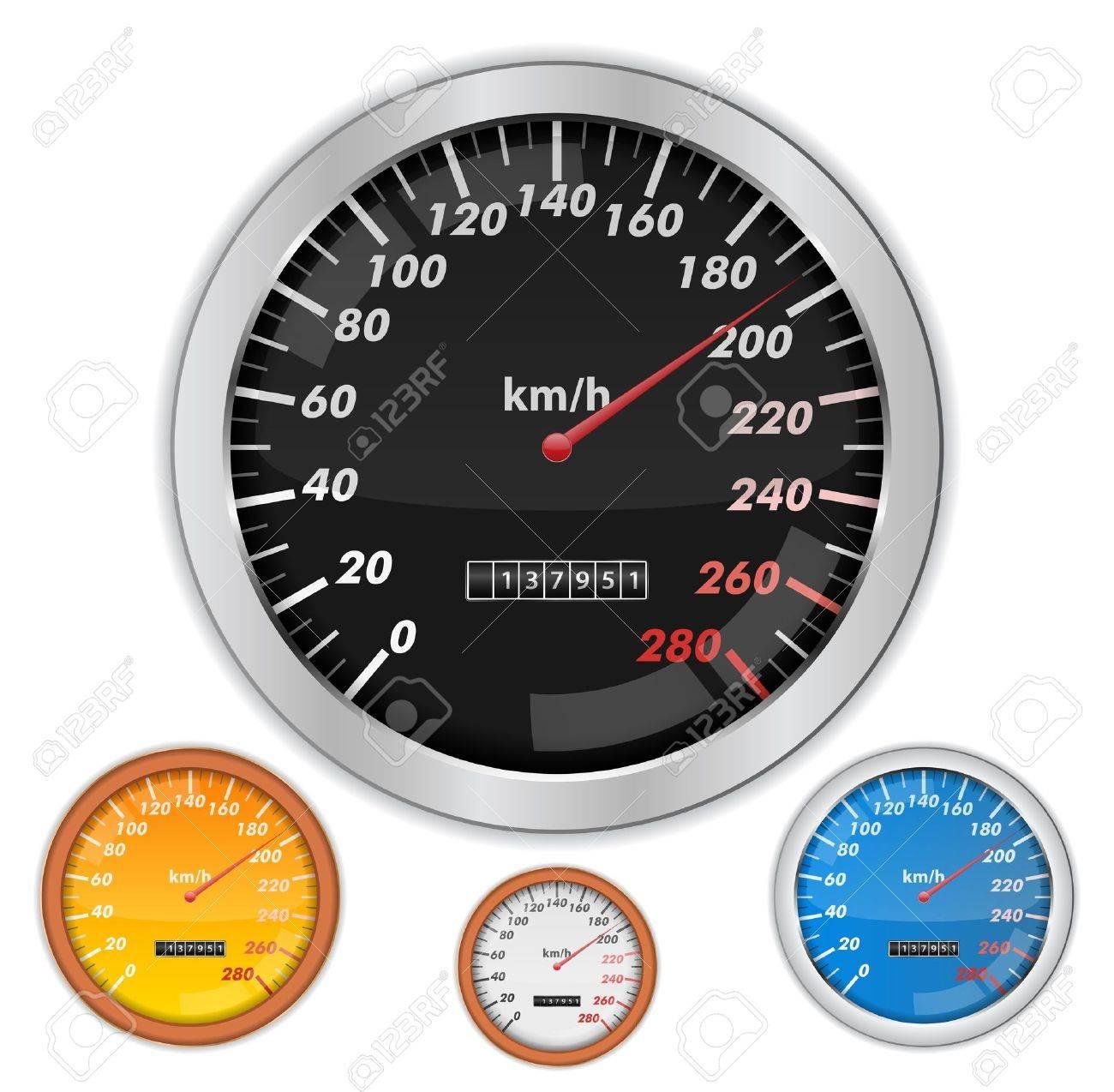 Speedometers on white background Stock Vector - 11813834