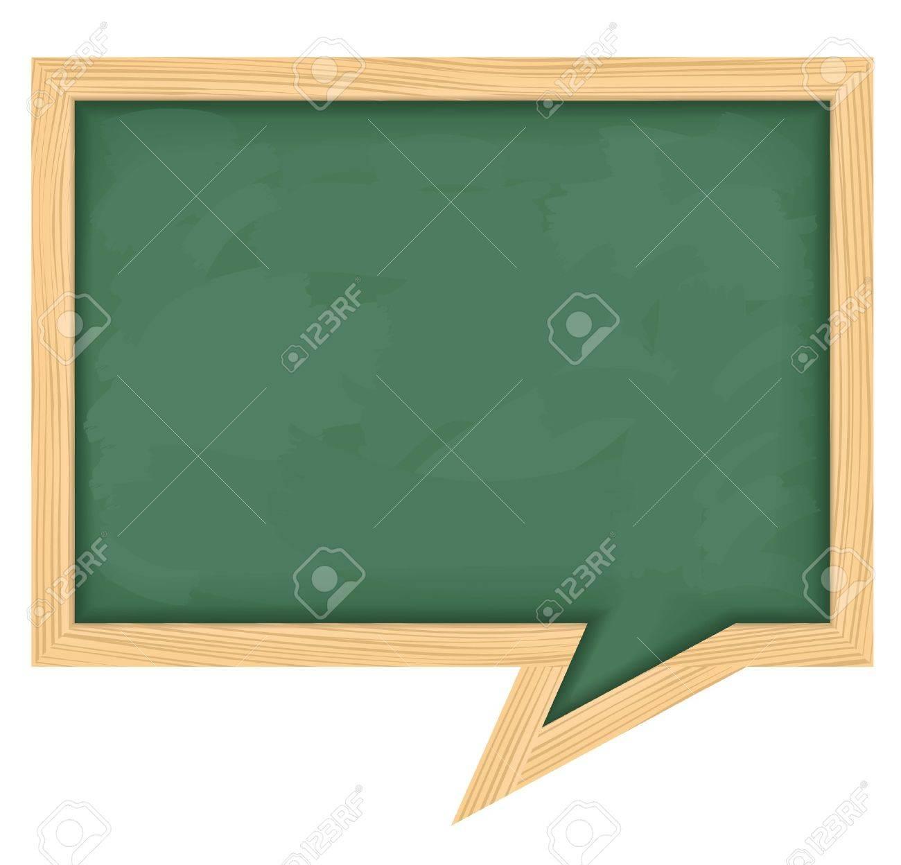 Blackboard shaped as speech bubble Stock Vector - 12483461