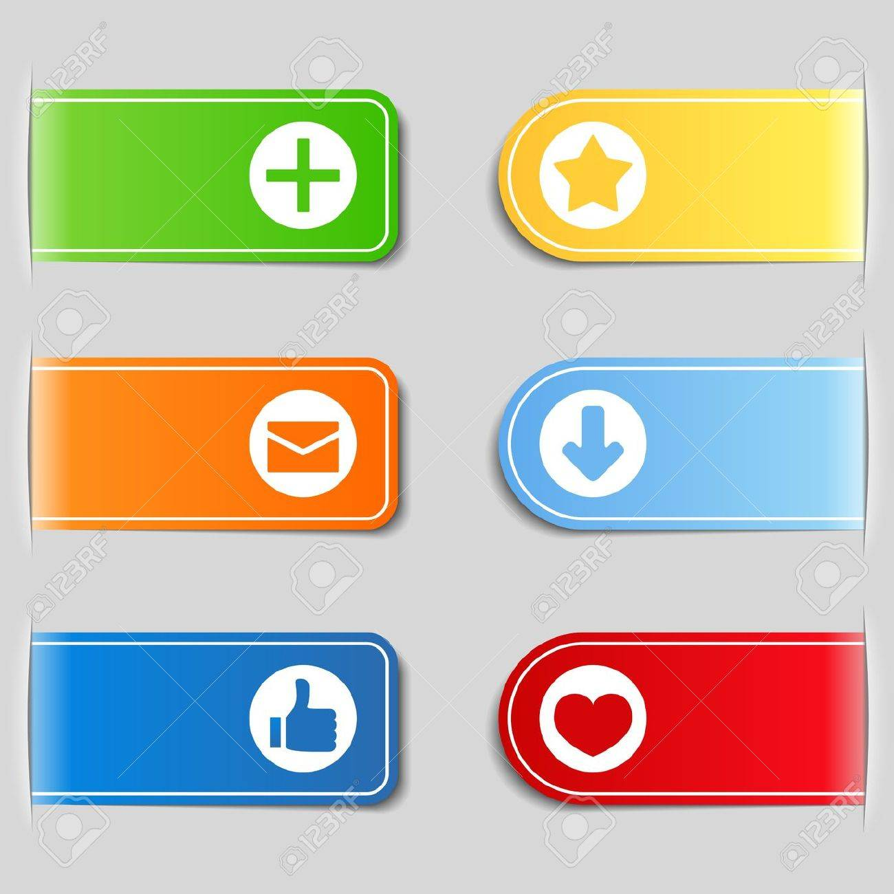 Tabs with icons Stock Vector - 12841466