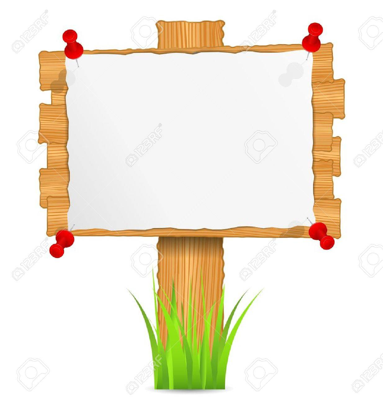 Wooden board with attached paper - 12841477