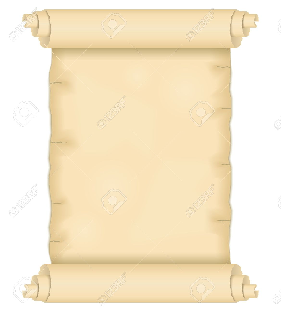 Old paper scroll