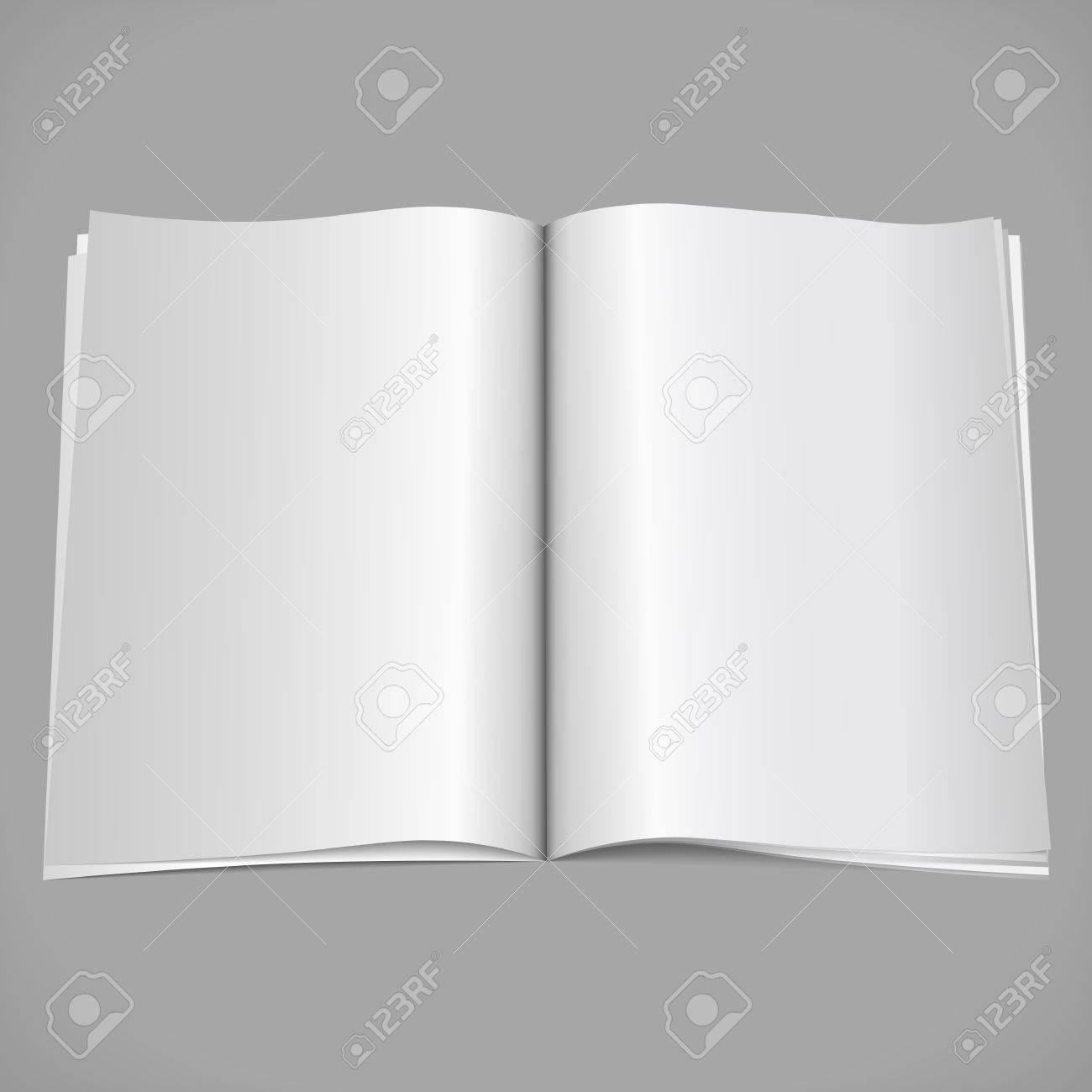 Blank open magazine Stock Vector - 13516704
