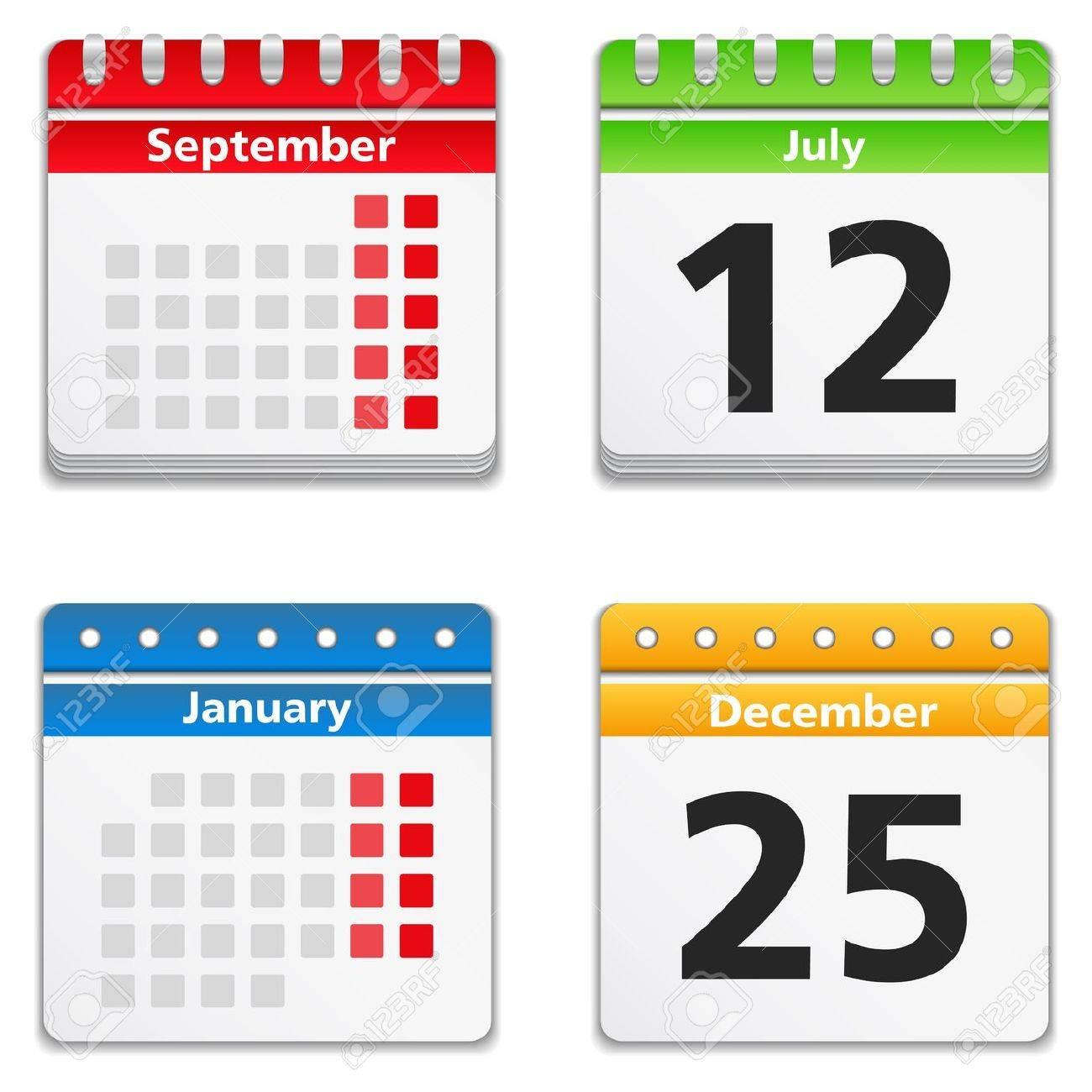 Calendar Icons Stock Vector - 14302509