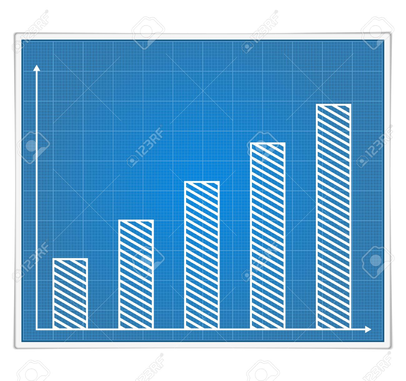 Blueprint bar graph royalty free cliparts vectors and stock blueprint bar graph stock vector 14460118 malvernweather Images