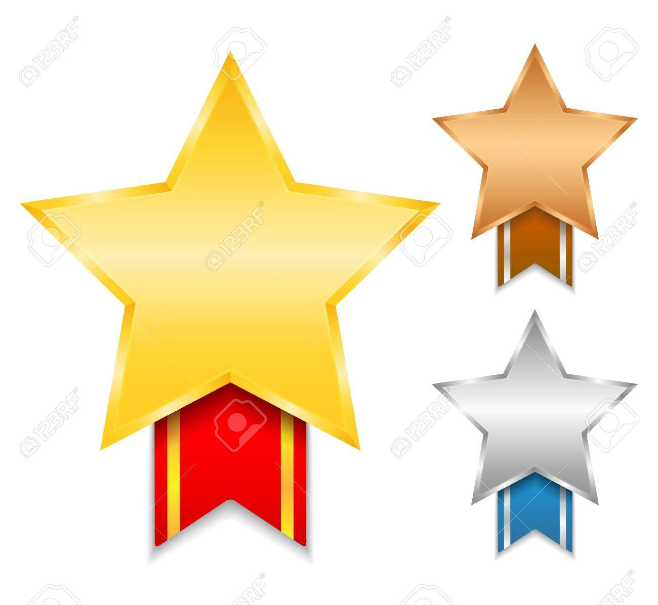 Golden, silver and bronze awards Stock Vector - 14897706
