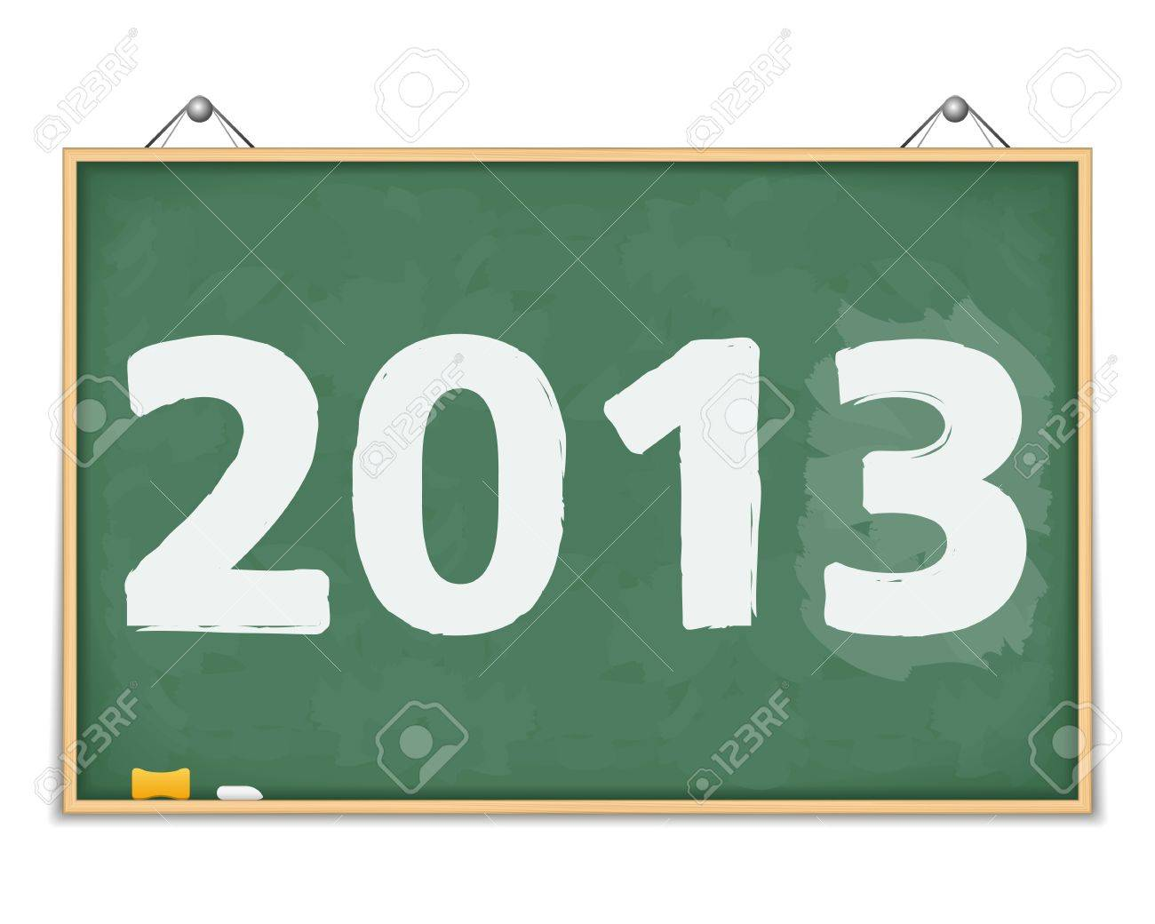 Big blackboard with number 2013 Stock Vector - 15060621