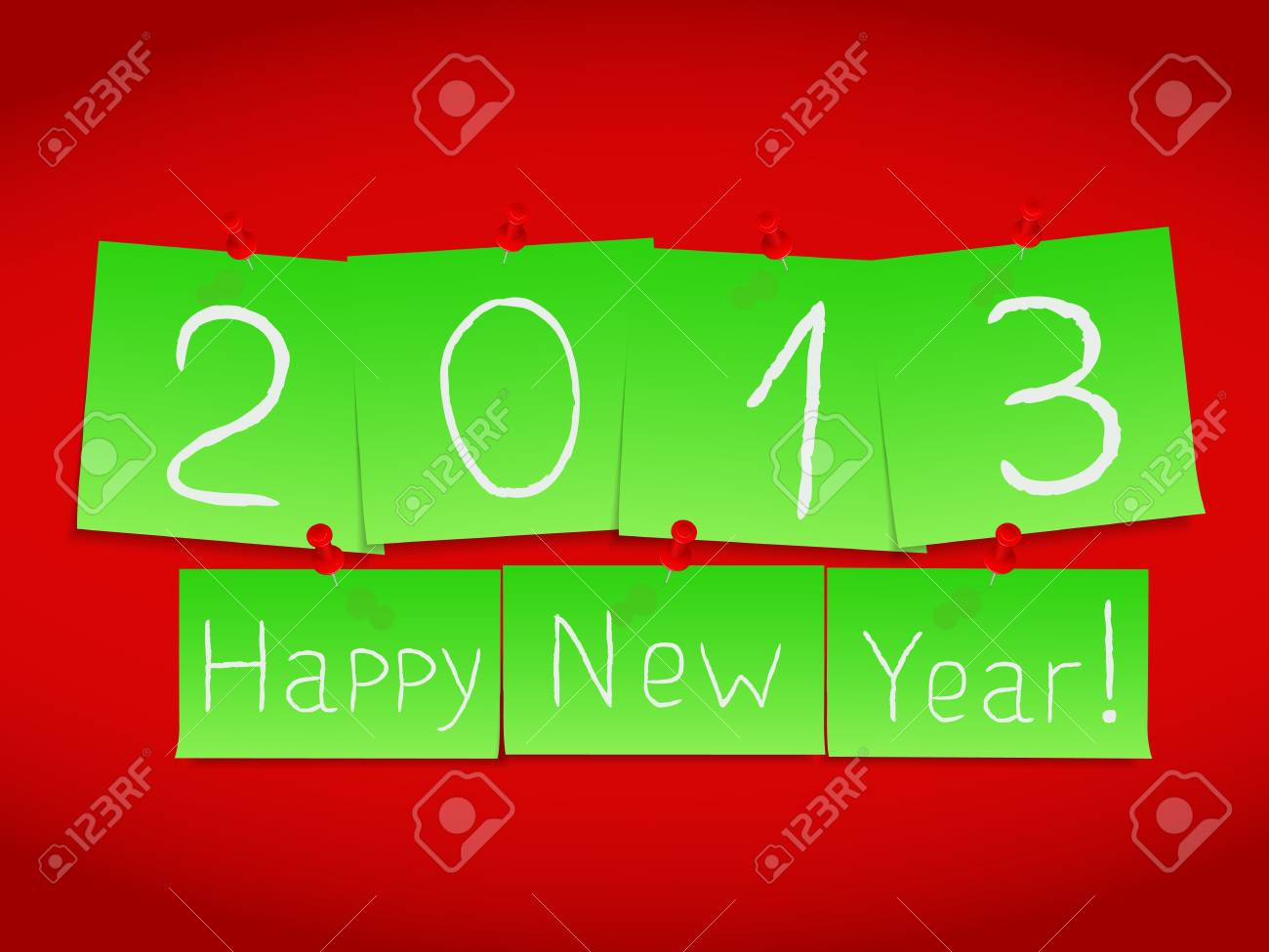 Happy new year card Stock Vector - 15136720