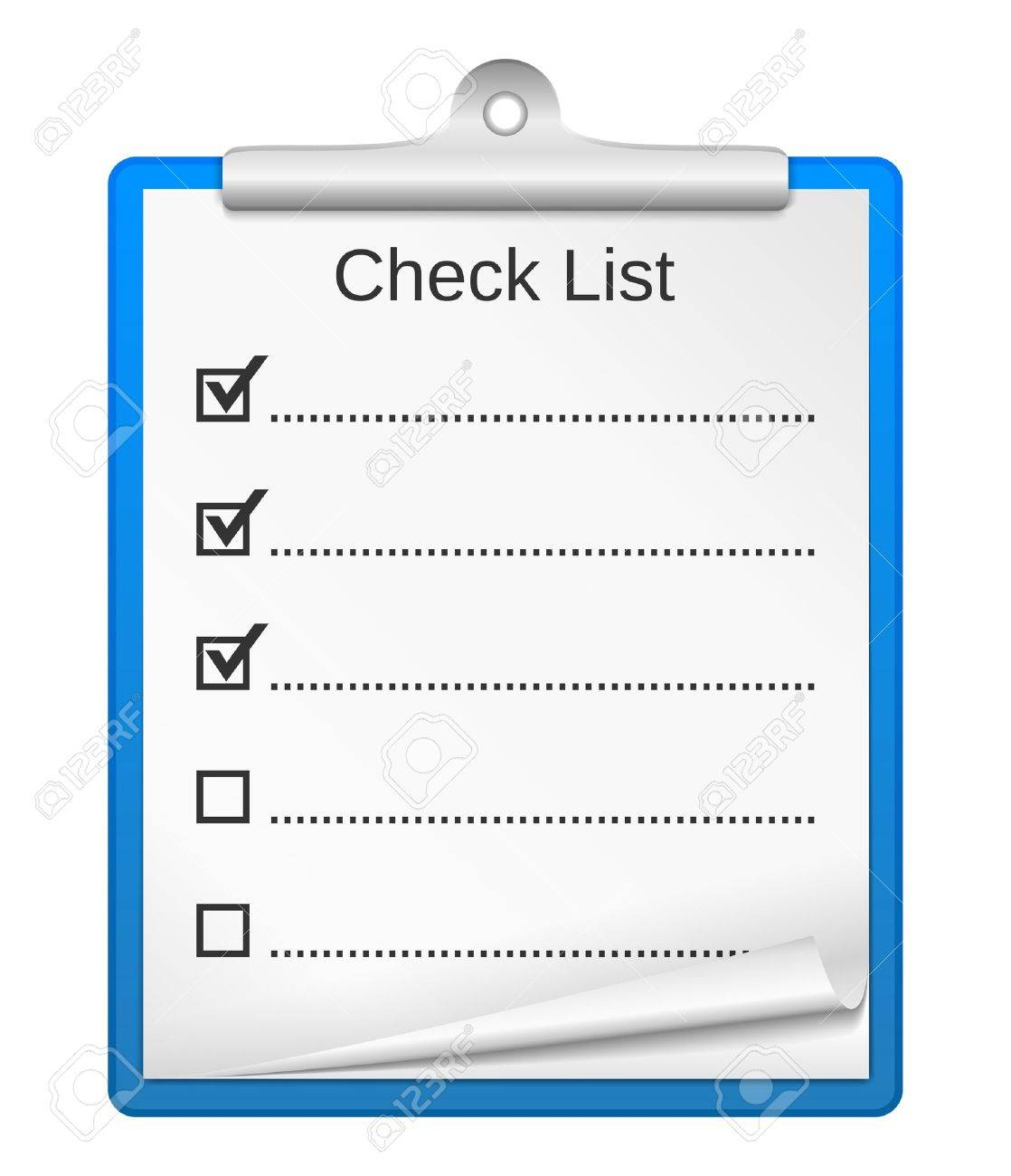 Clipboard with check list Stock Vector - 16170237