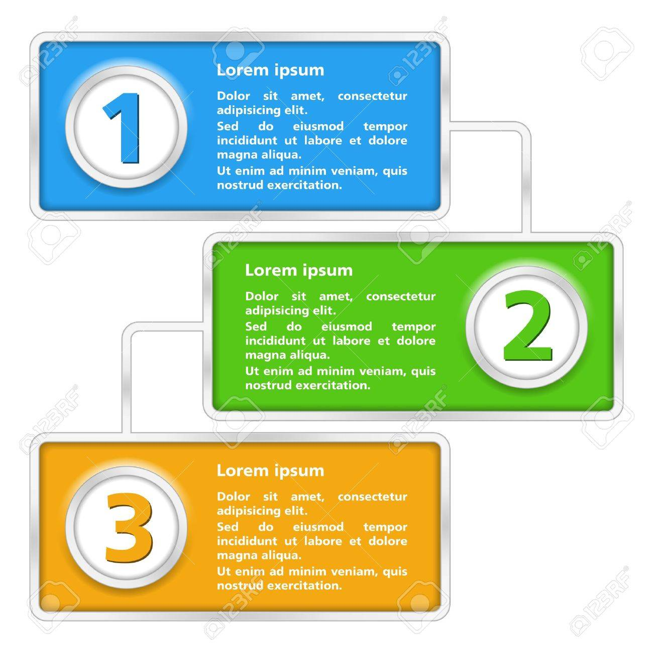 Template of diagram with three elements Stock Vector - 16432280