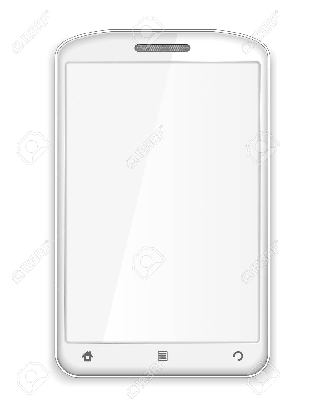 Modern white mobile phone with blank white screen Stock Vector - 17149914