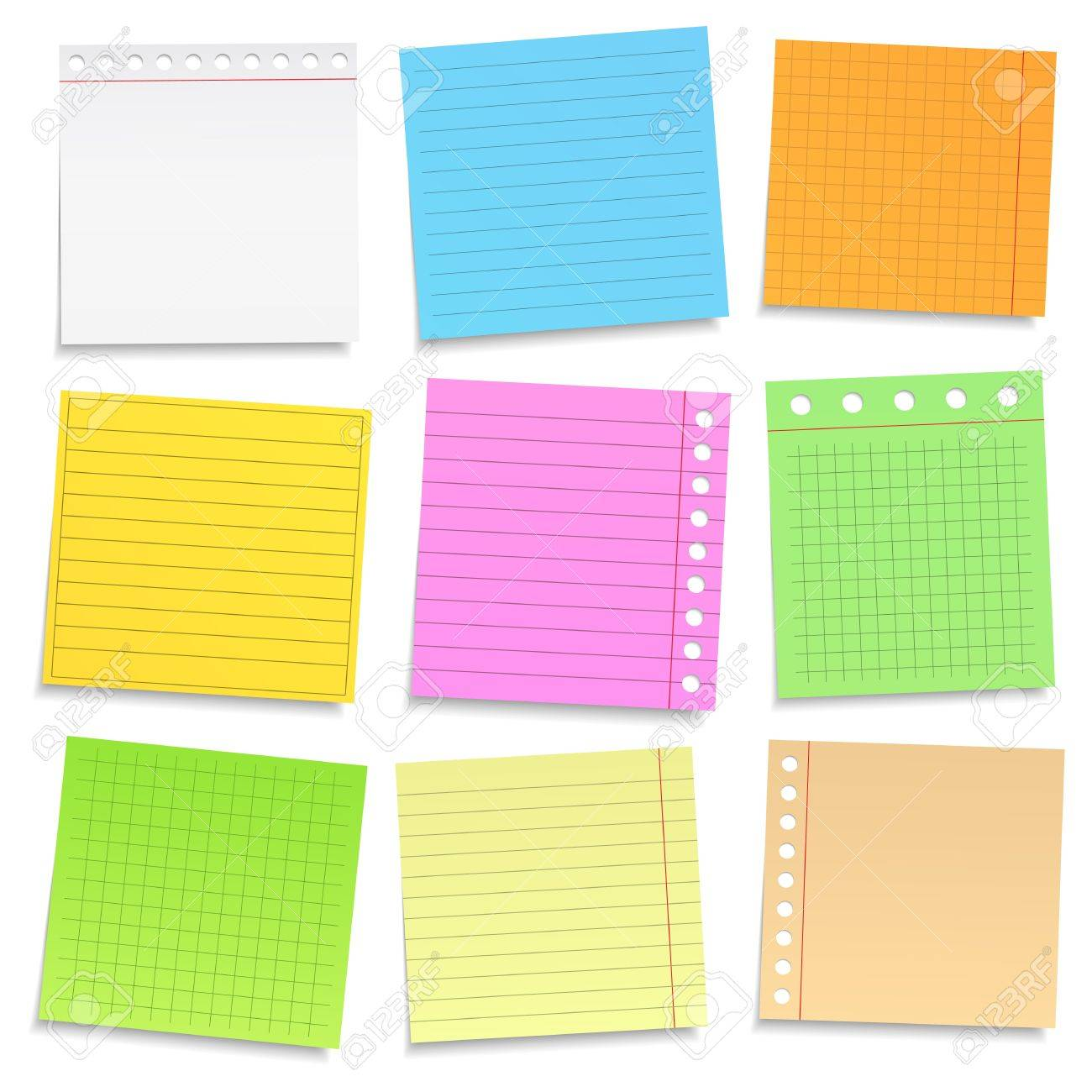 Set of different colored paper Stock Vector - 17312601