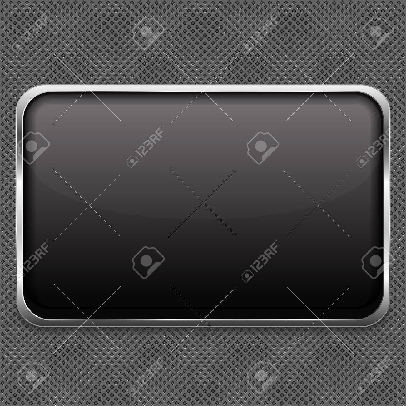 Blank frame on metal background Stock Vector - 17389126