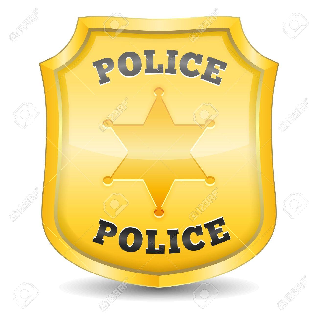 Moderno Insignia De Policía Para Colorear Colorear Colección ...