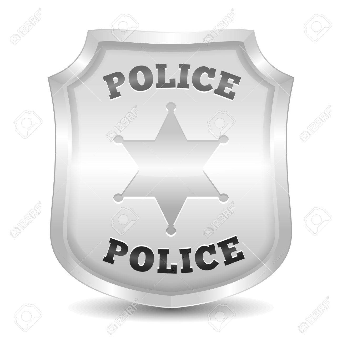 silver police badge royalty free cliparts vectors and stock