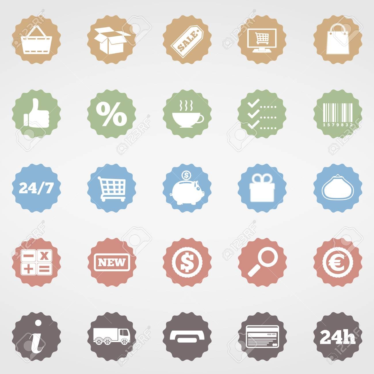 Shopping Icons Stock Vector - 20351233