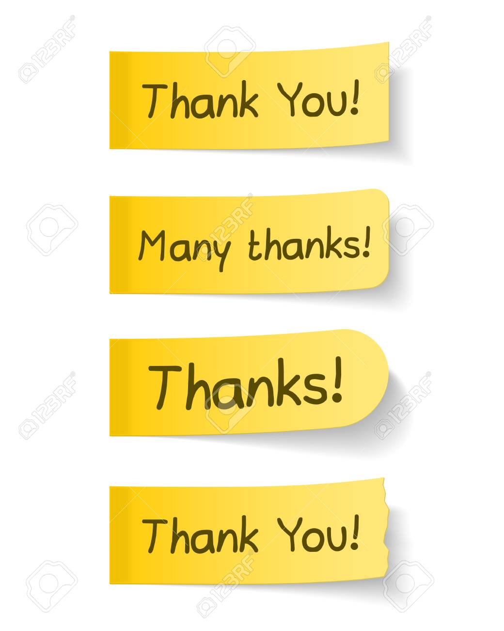 Thank you sticky papers Stock Vector - 26562672
