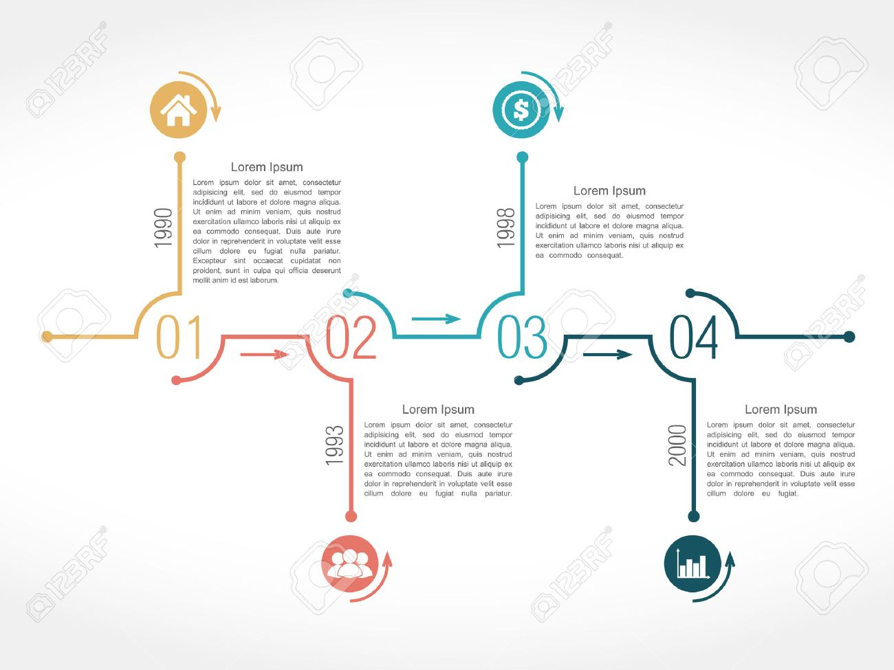 timeline infographic design template royalty free cliparts vectors