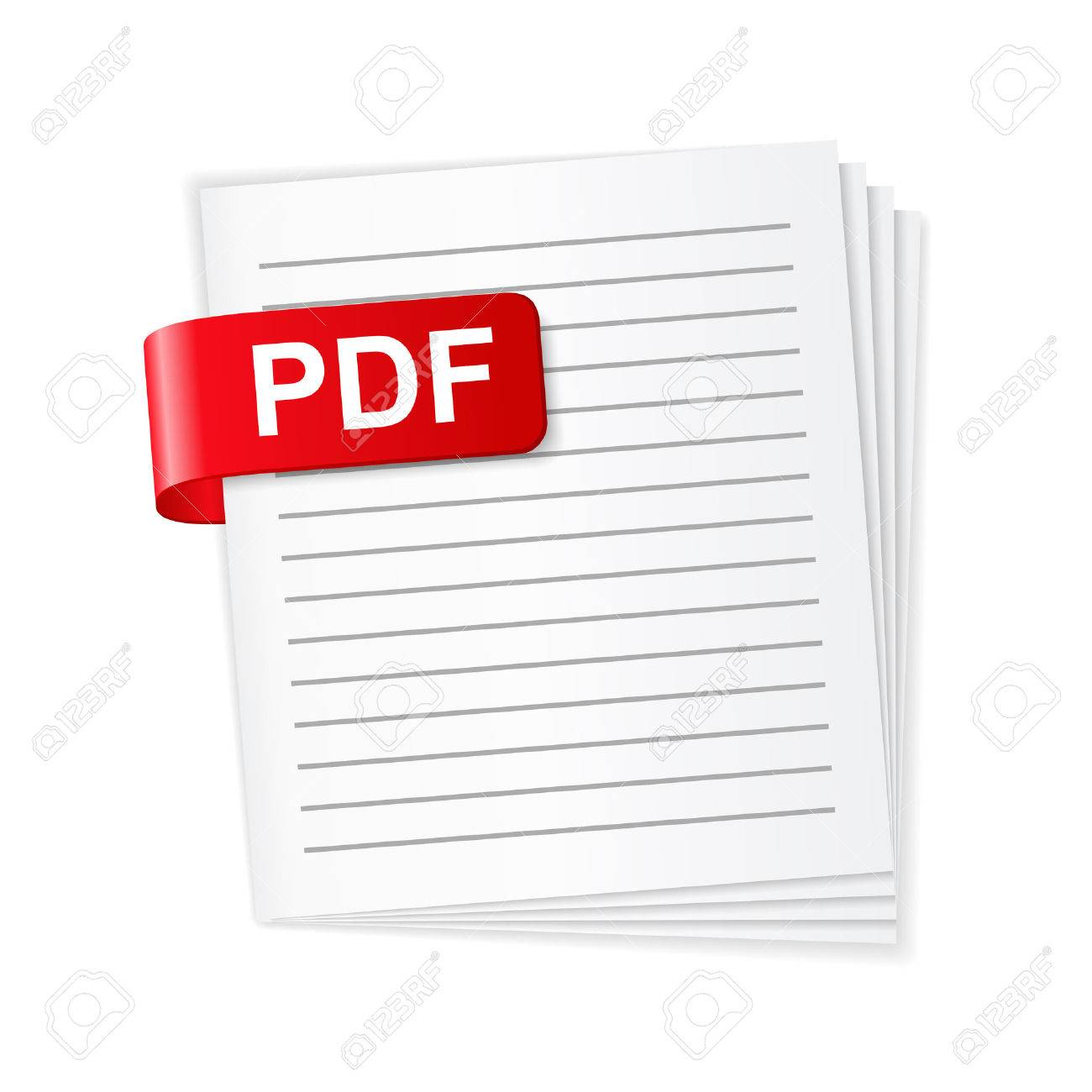 pdf ファイルのアイコン ロイヤリティフリークリップアート、ベクター