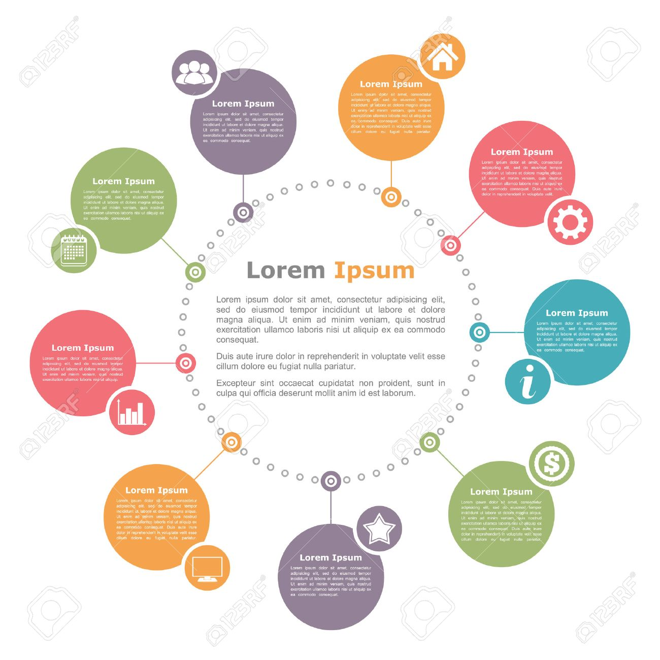 circle diagram template royalty free cliparts vectors and stock