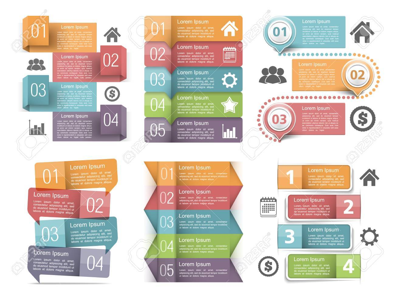 Infographic elements with numbers, icons and place for text - 38237769