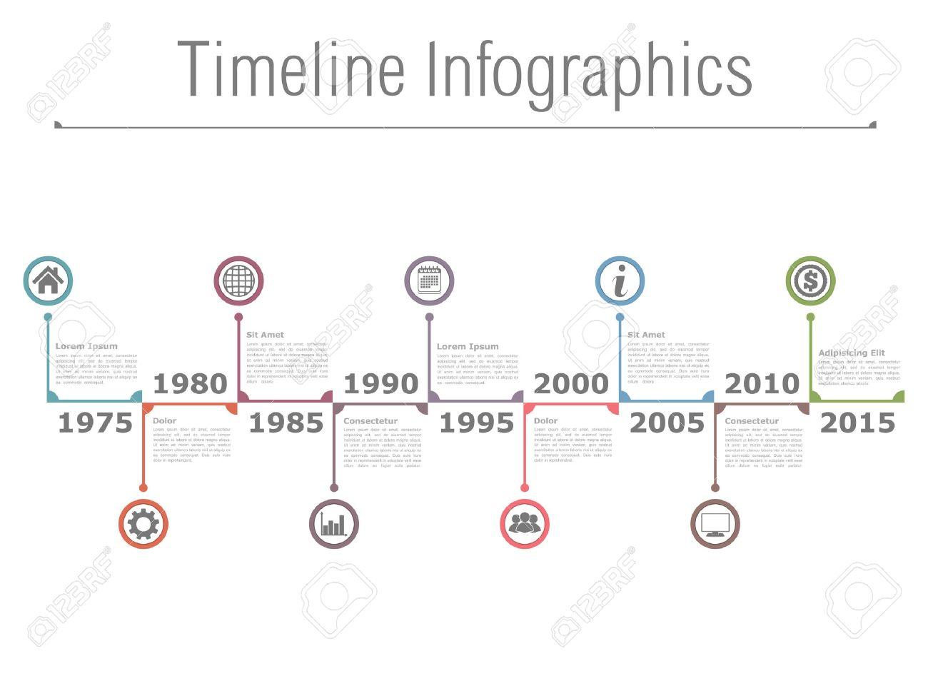 Horizontal timeline infographics - 41674630