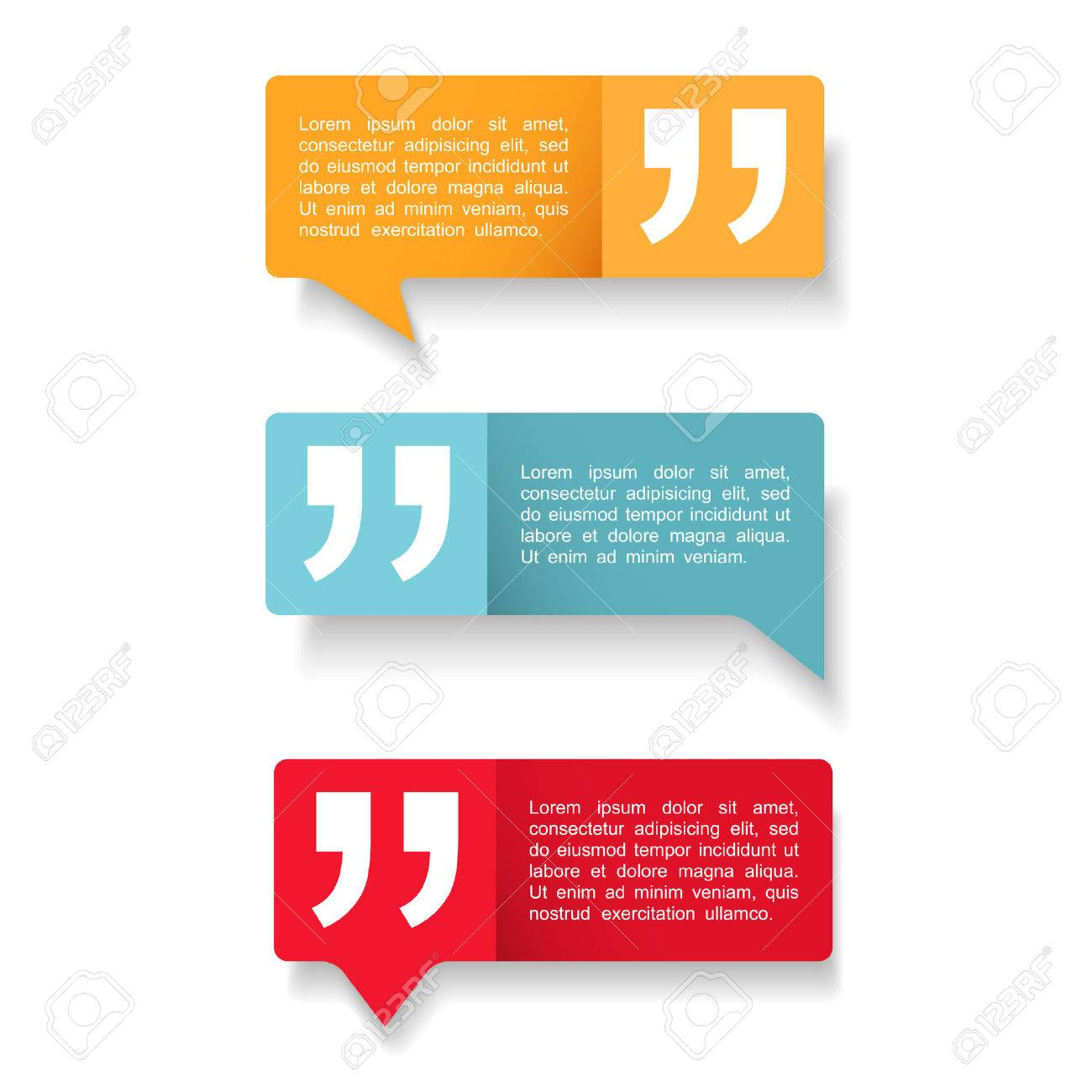 Speech Bubbles with quotes icon - 43889256