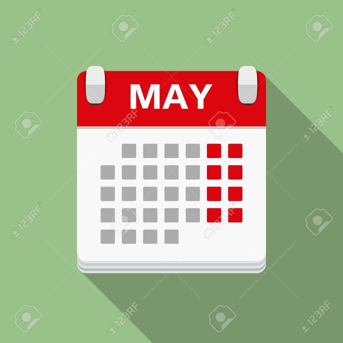 Calendar icon, flat design - 46911180