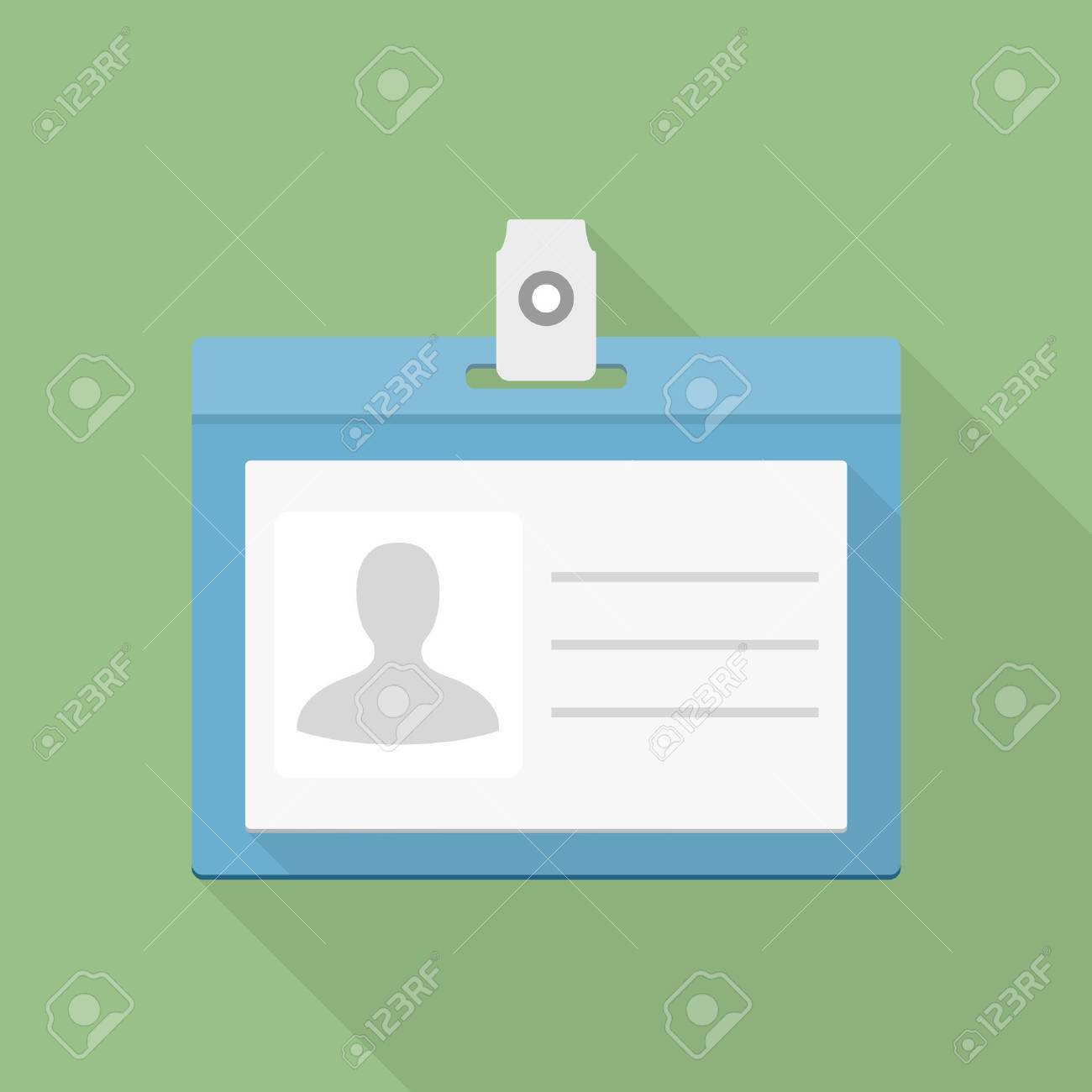 Identification card icon, flat design - 46346124