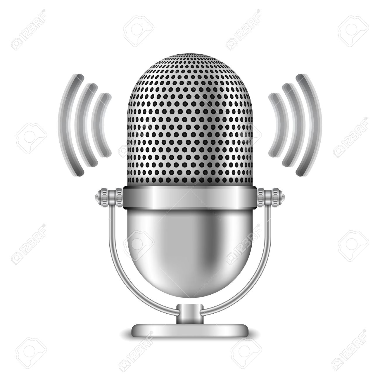 Microphone on white background - 46332275