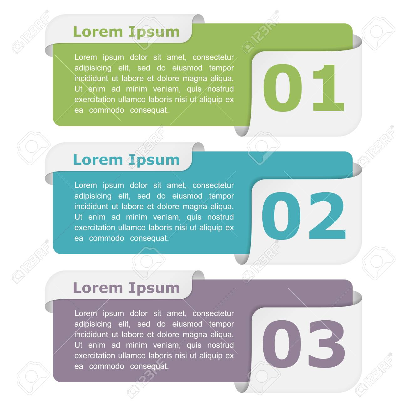 Infographic design elements with place for titles and numbers - 47668418