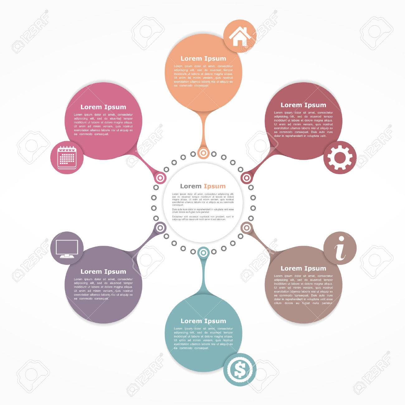 Circle flow diagram template with six elements royalty free cliparts circle flow diagram template with six elements stock vector 48491627 ccuart Gallery