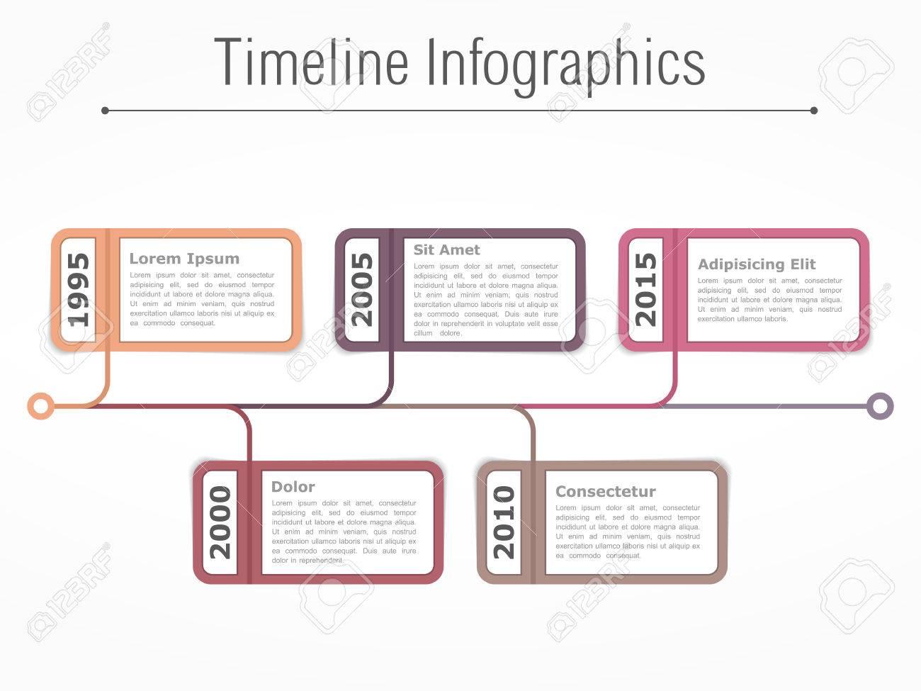 vertical timeline templates