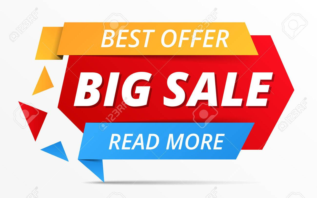 big sale banner best offer royalty free cliparts vectors and